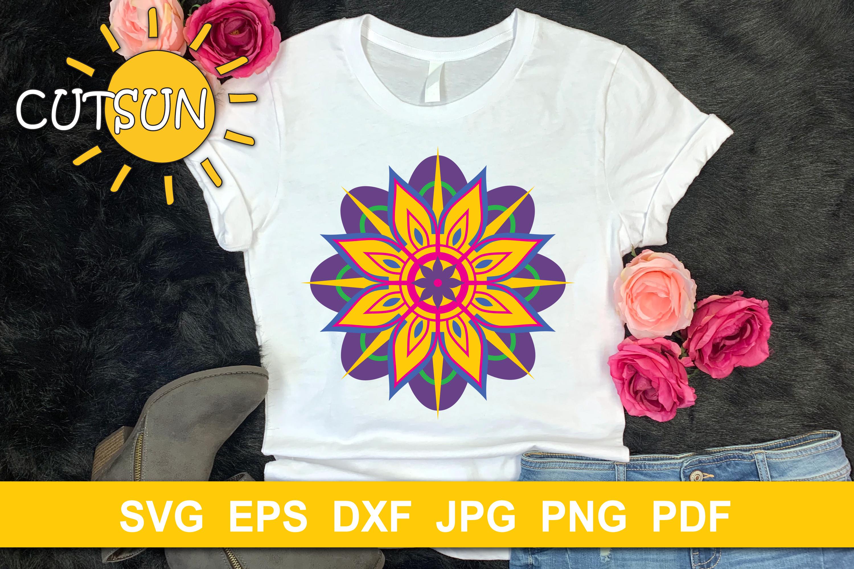 Download Mandala SVG | 3D Layered Mandala SVG cut file 8 layers