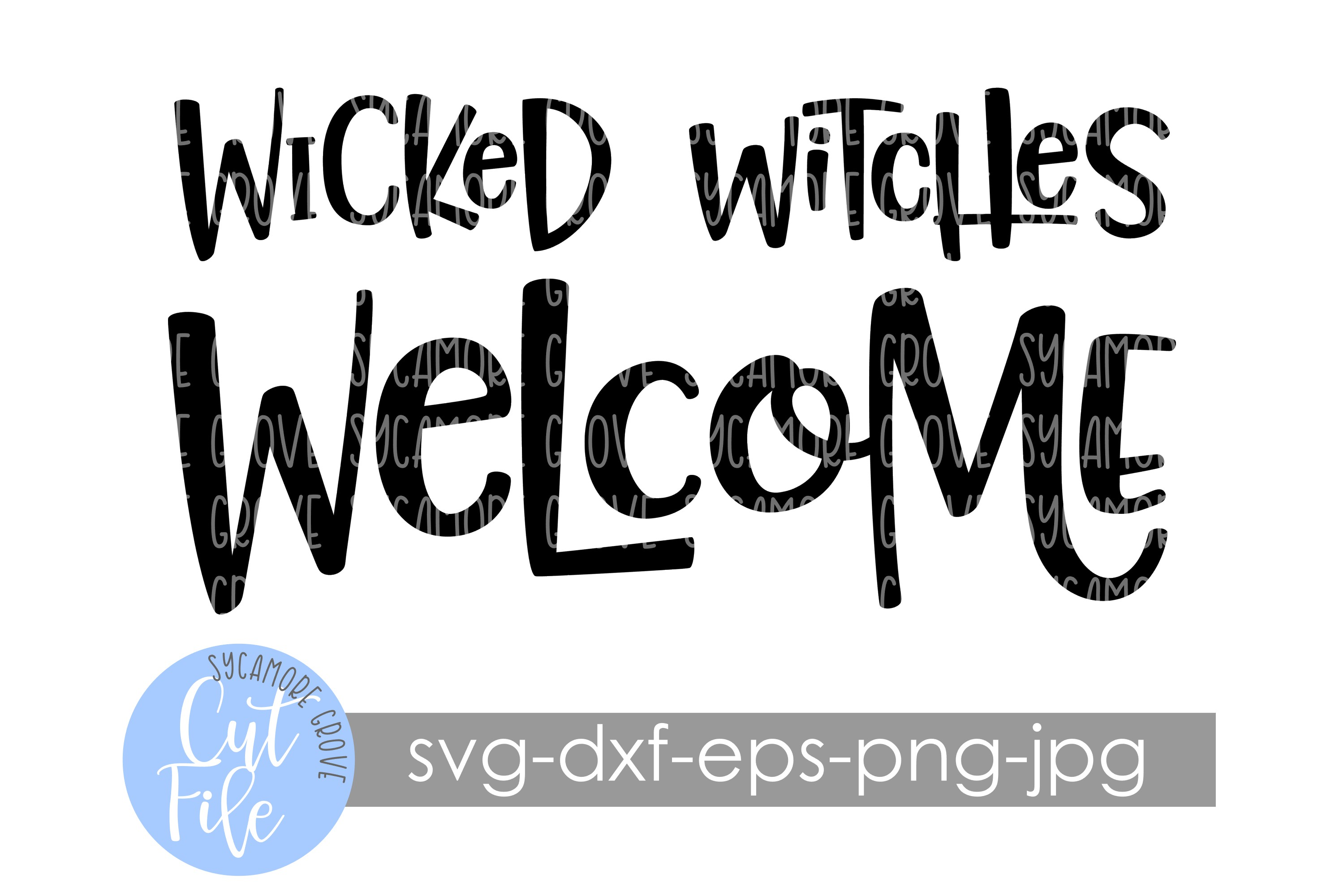 Wicked Witches Welcome | Halloween Doormat | SVG Cut File example image 2