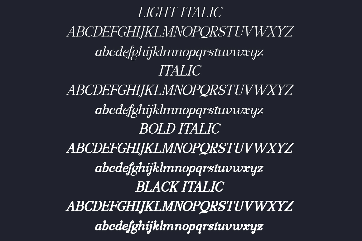 Manohara Italic Pro example image 3