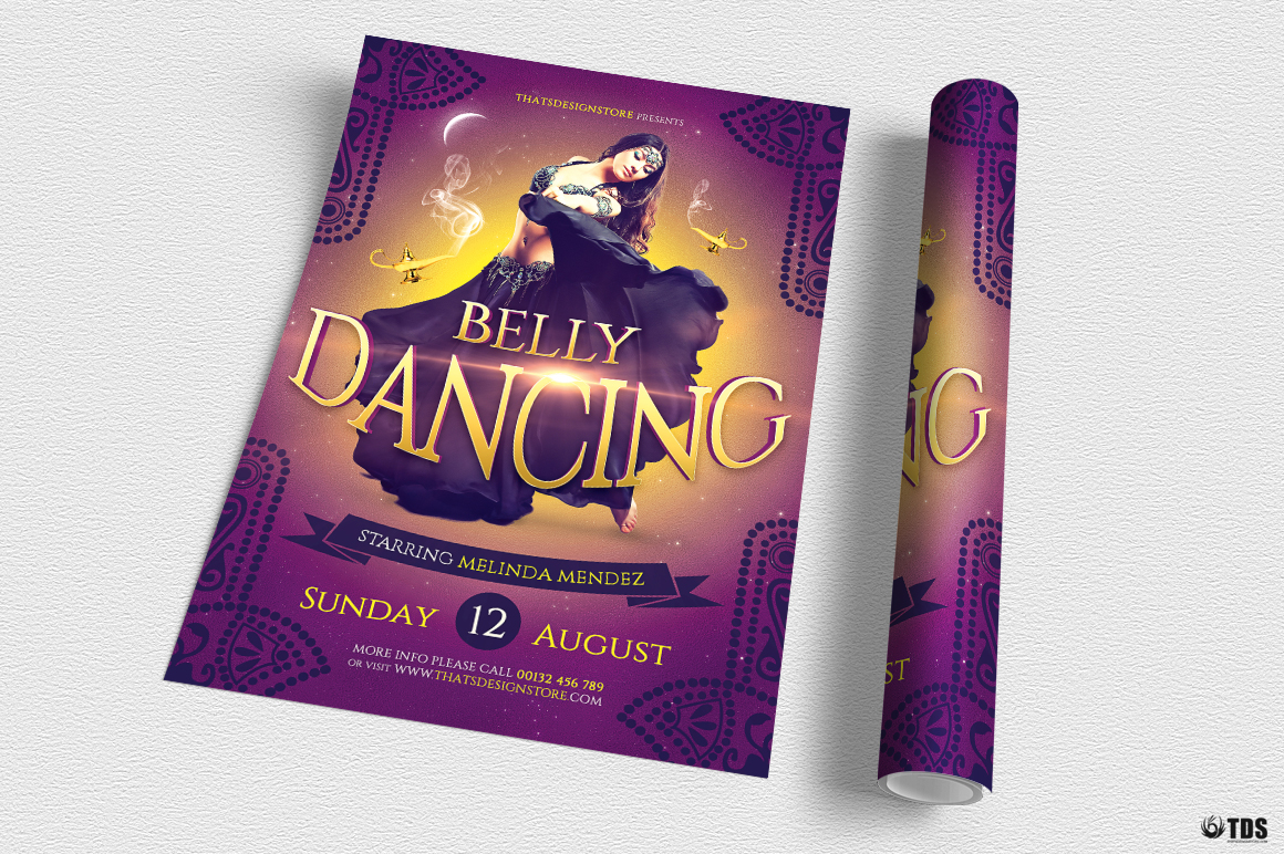 Belly Dancing Flyer Template example image 2