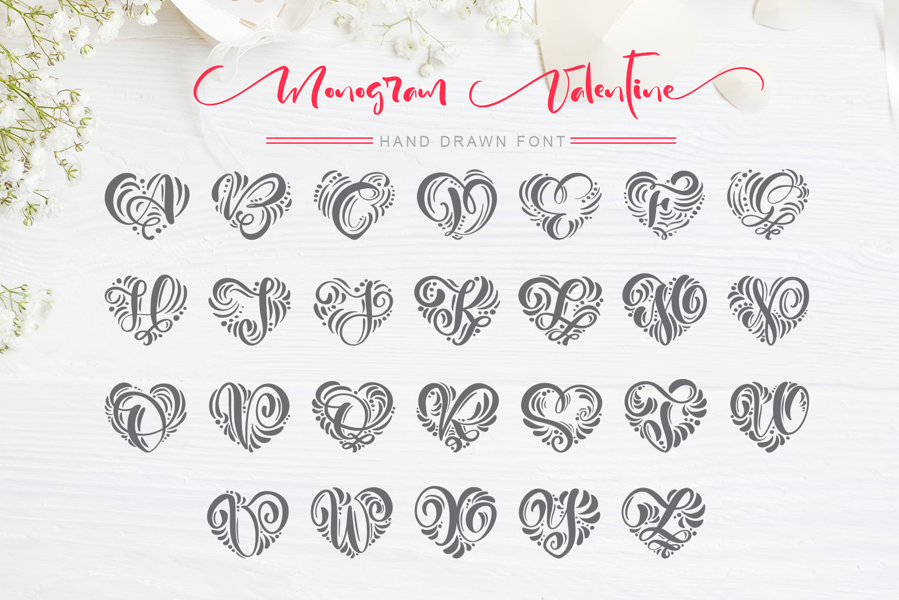 Monogram Valentine Font example image 4
