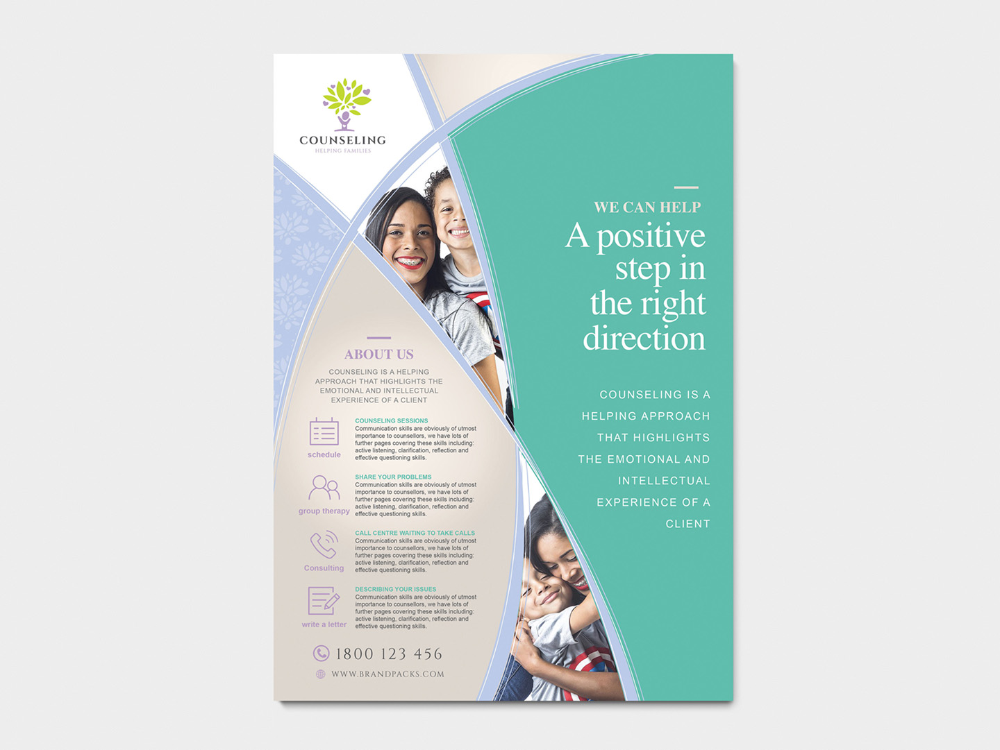 A4 Counselling Service Advertisement Templates example image 3