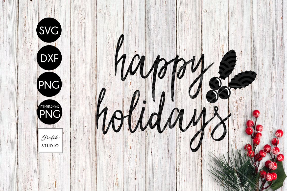 Happy Holidays CHRISTMAS SVG for Cricut example image 2