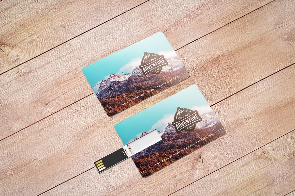 Wafer USB Wallet Card Mockup example image 10
