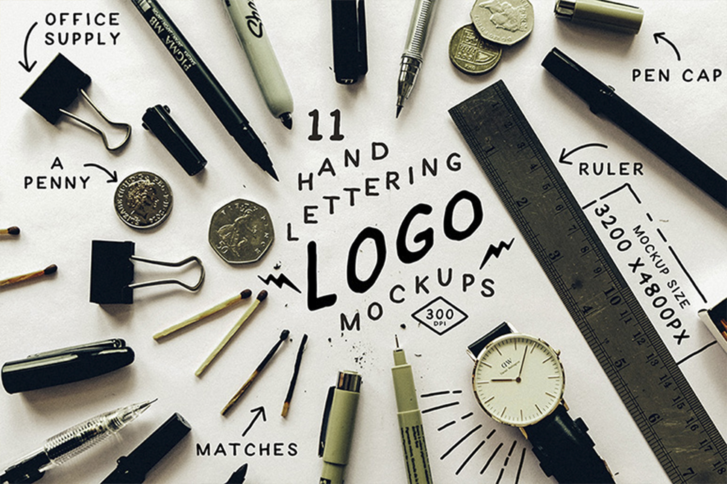 Hand Lettering Logo Mock Up example image 1