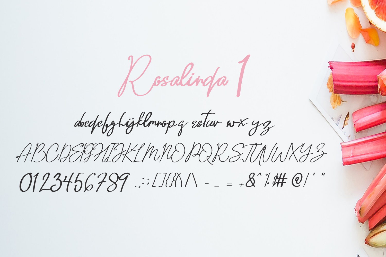 Rosalinda Three Font example image 5