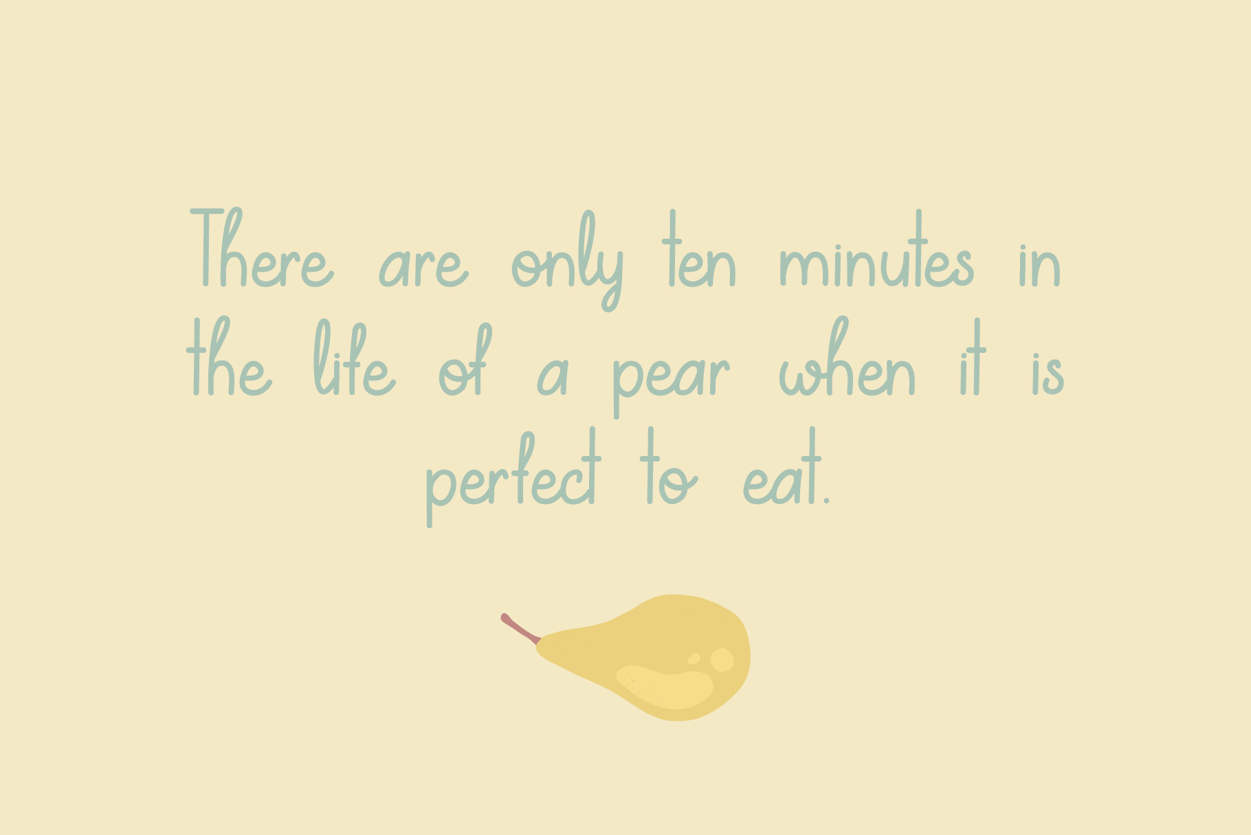 Lovely Pear | hand-written font example image 5