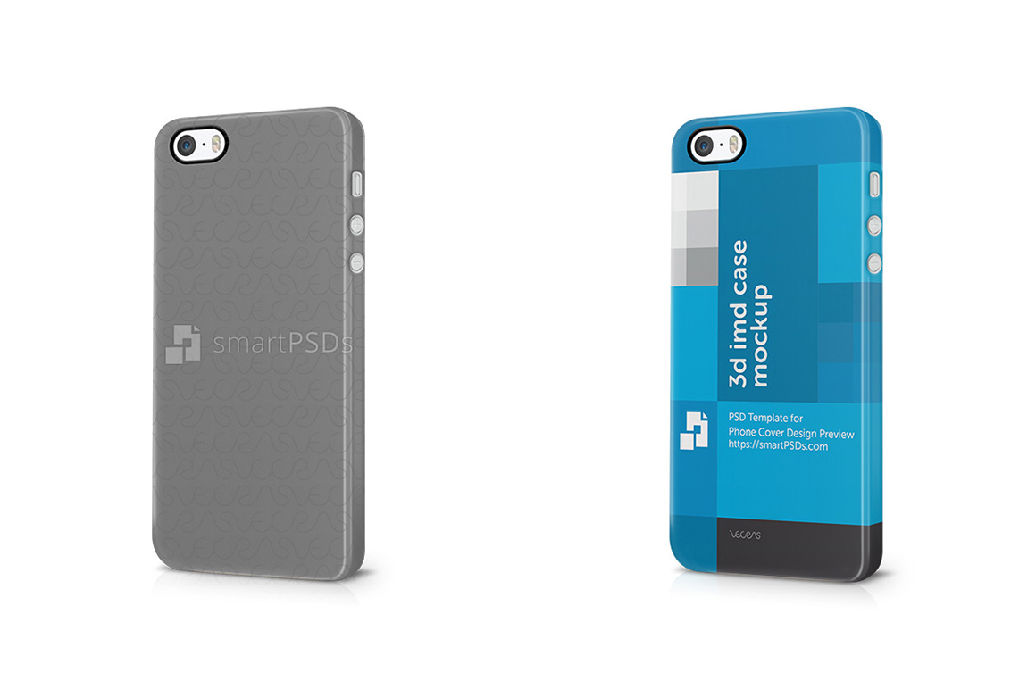 Apple iPhone 5s 3d IMD Mobile Case4 design Mockup 2013 example image 1