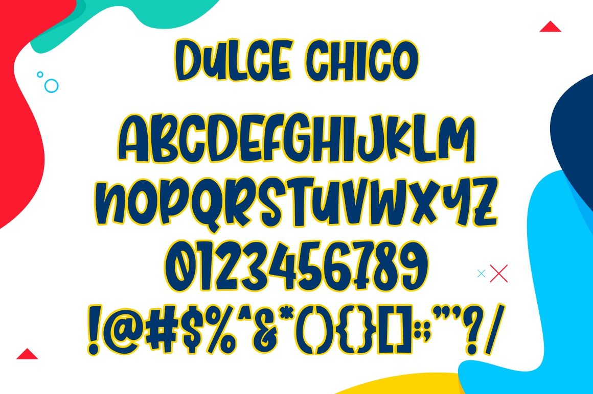 Dulce Chico || Display & Playful Font example image 6
