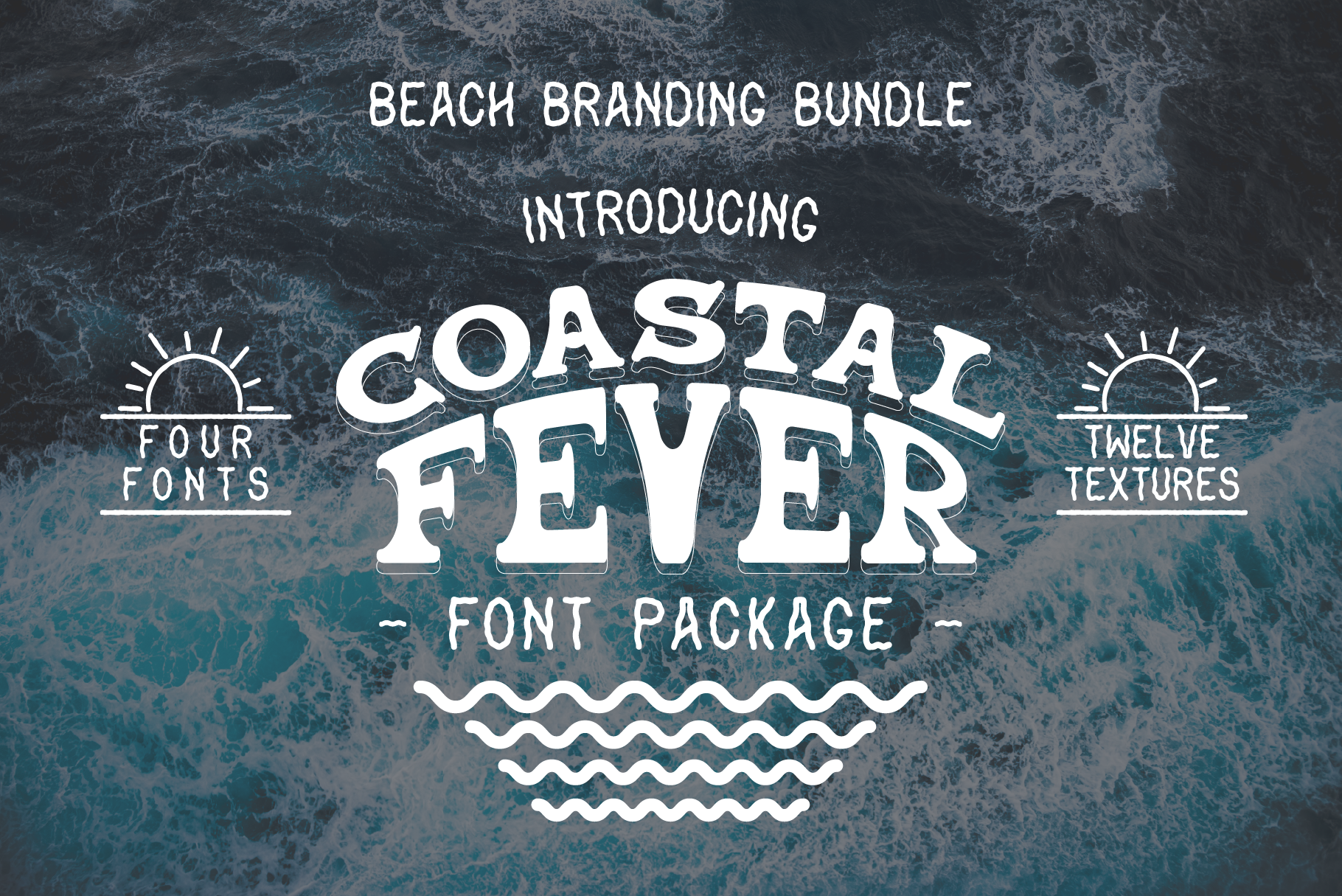 Coastal Fever - Font Package & Beach Textures example image 1