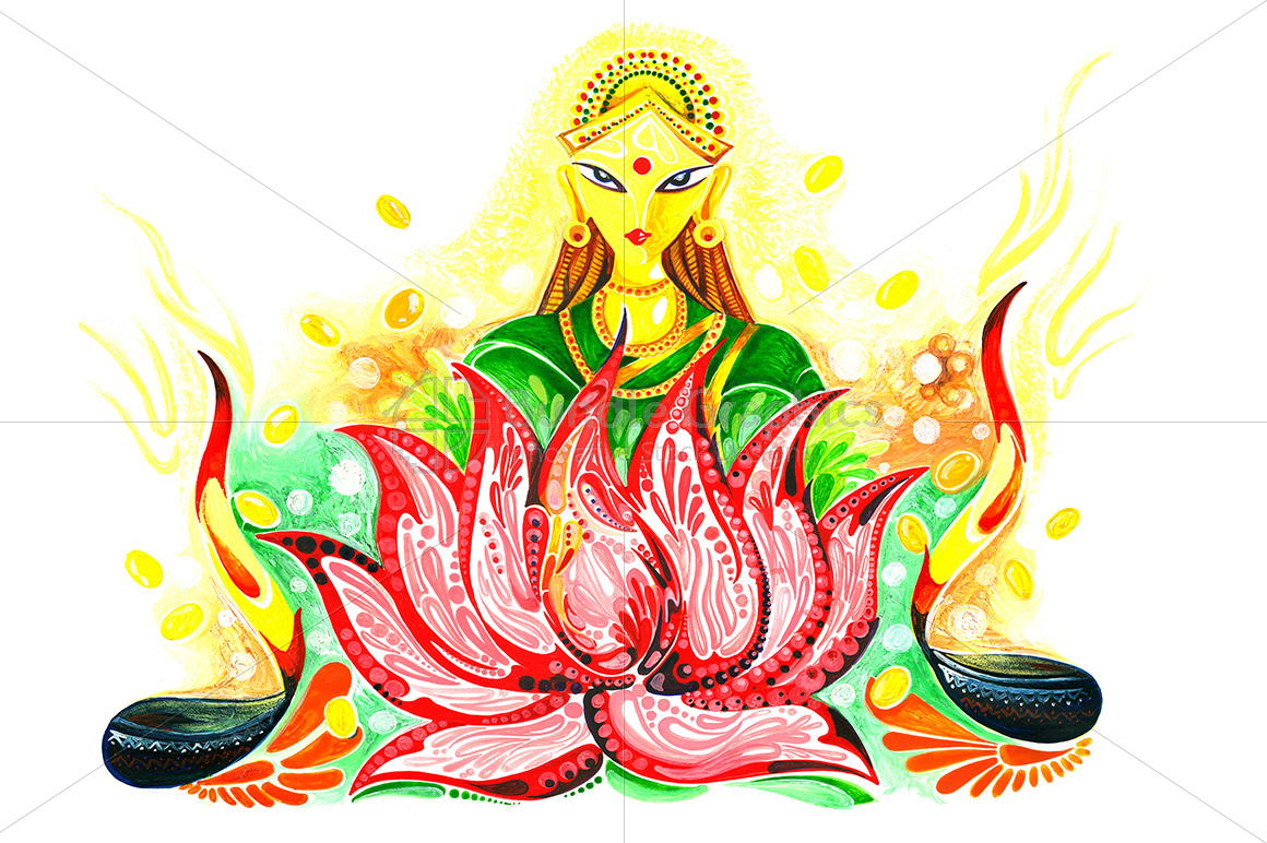 Lakshmi Maa - Abstract Painting example image 1