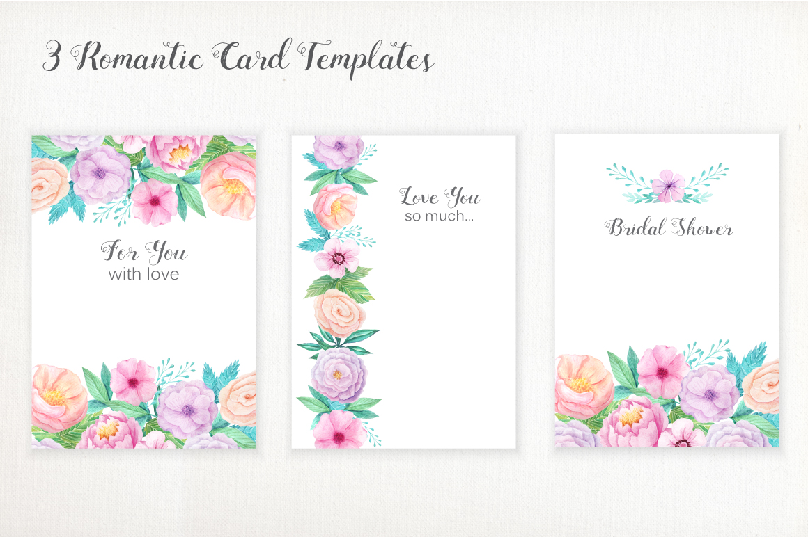 Shabby Chic Watercolor Pack example image 6