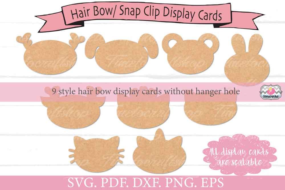 Animal Ears Hair Bow Snap Clip Display Card Bundle example image 4