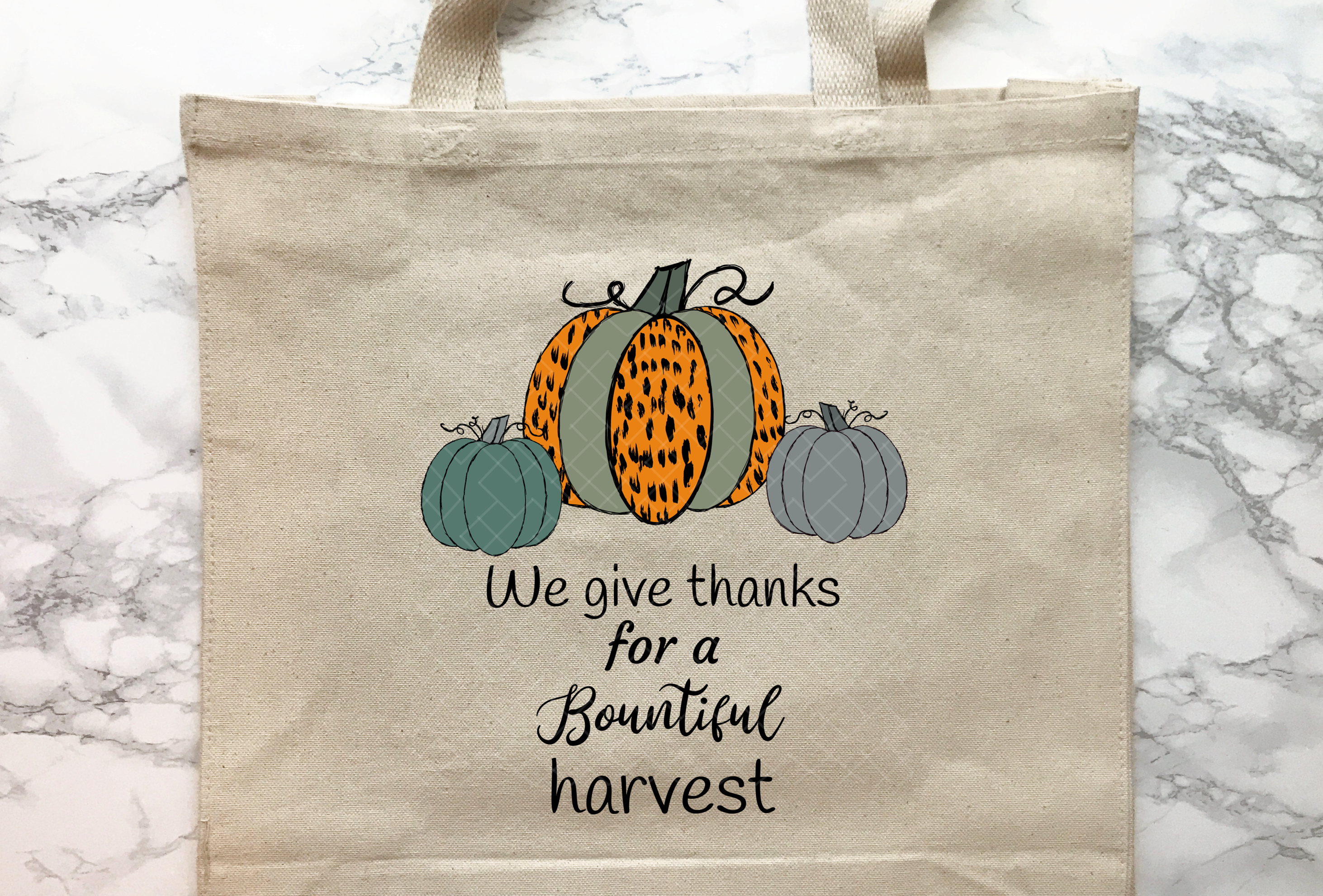 We Give Thanks Pumpkins Group Sublimation Cheetah Pattern example image 4