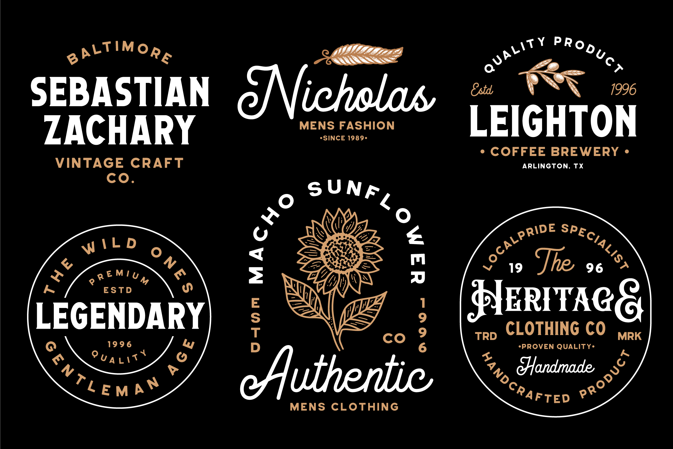 Geovano - Vintage Font Family example image 5