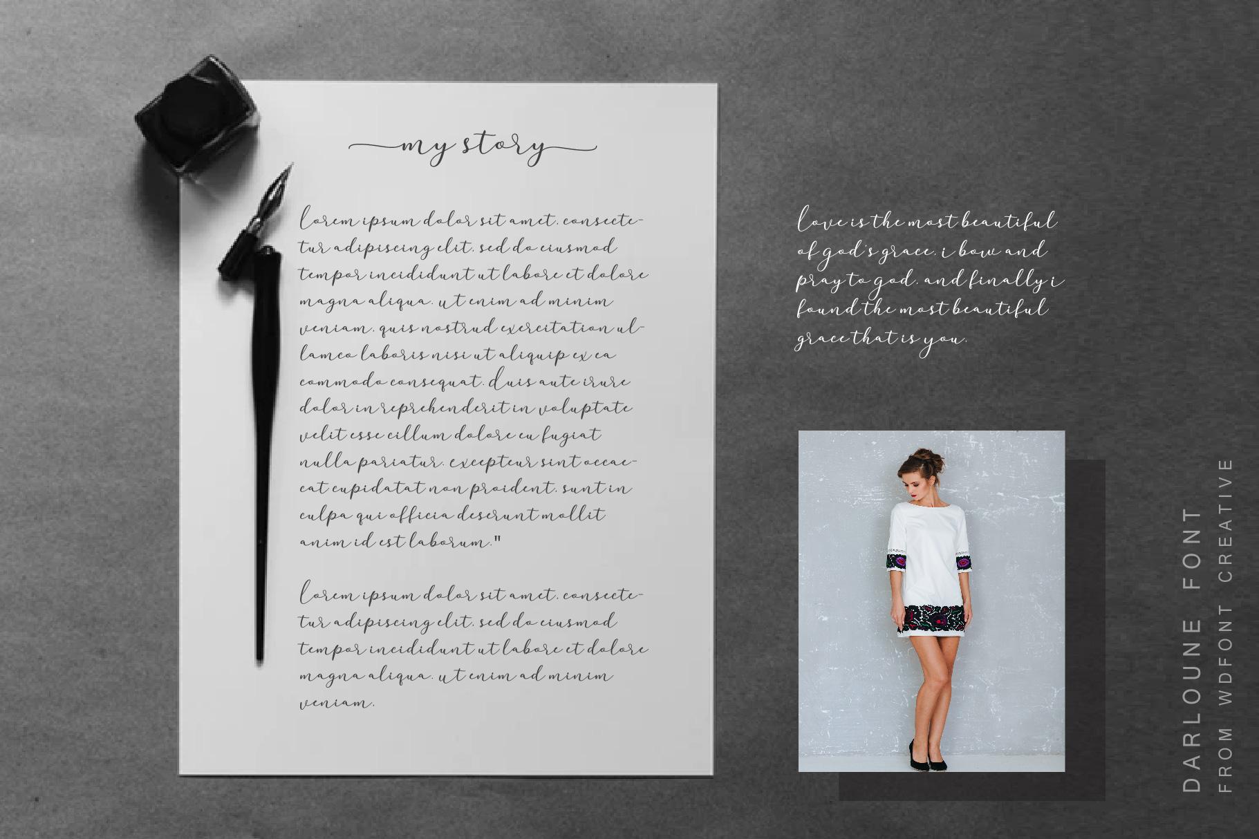 Darloune | An Elegant Calligraphy example image 5