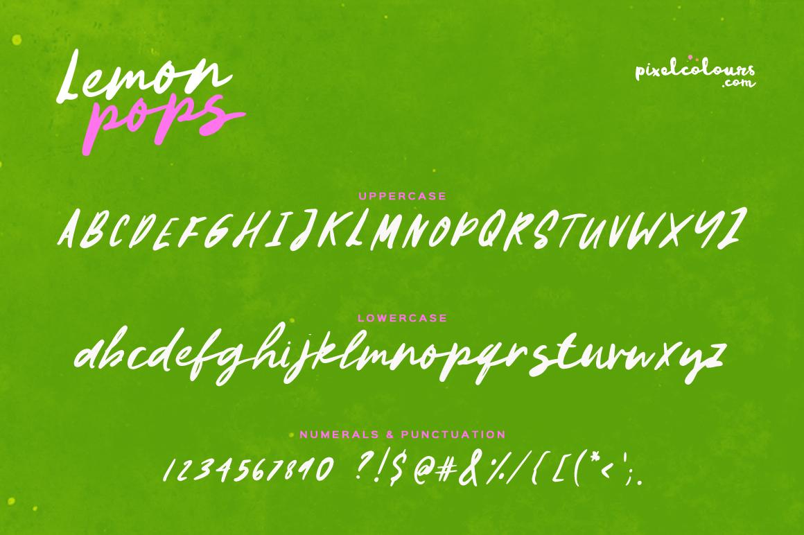 Lemon Pops Hand Drawn Script Font example image 5