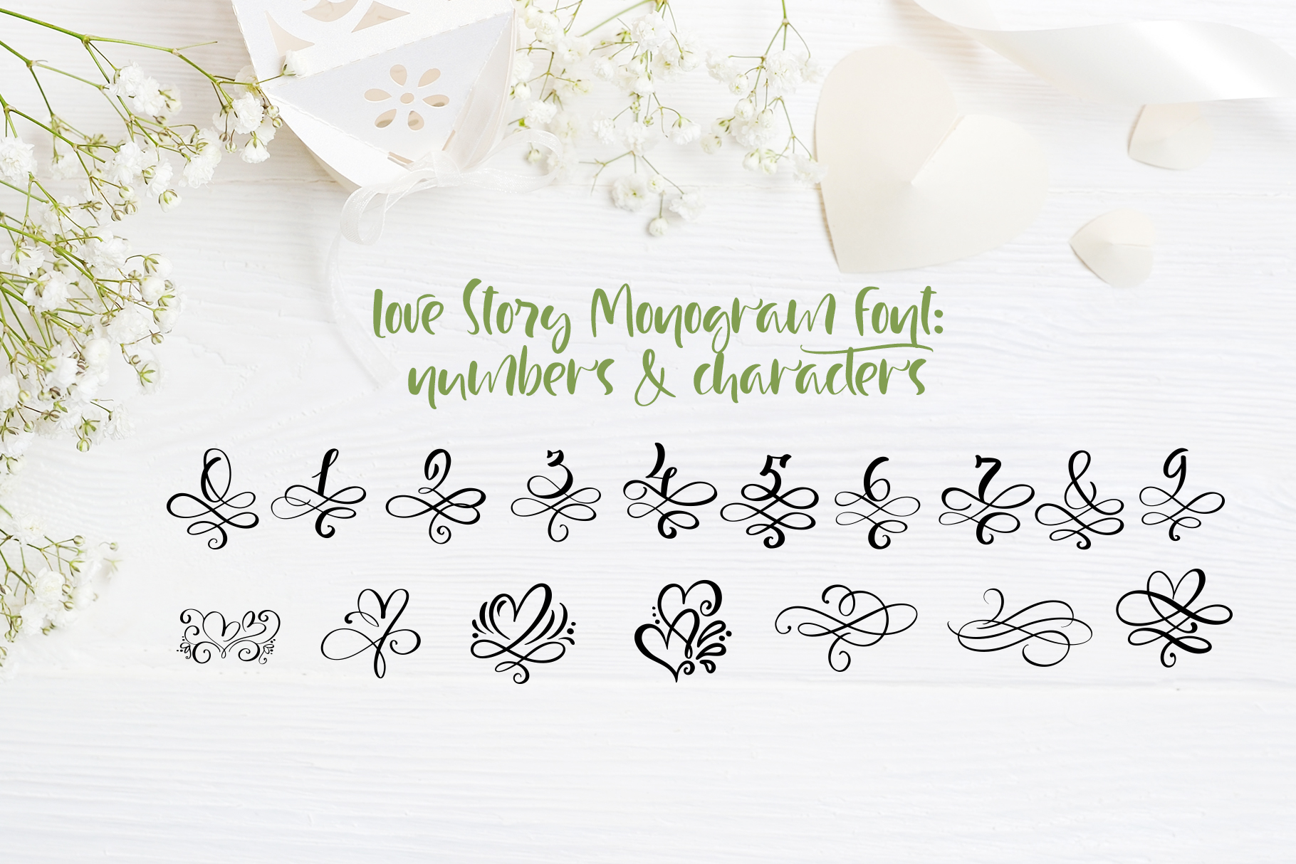 Love Story Monogram Font example image 7