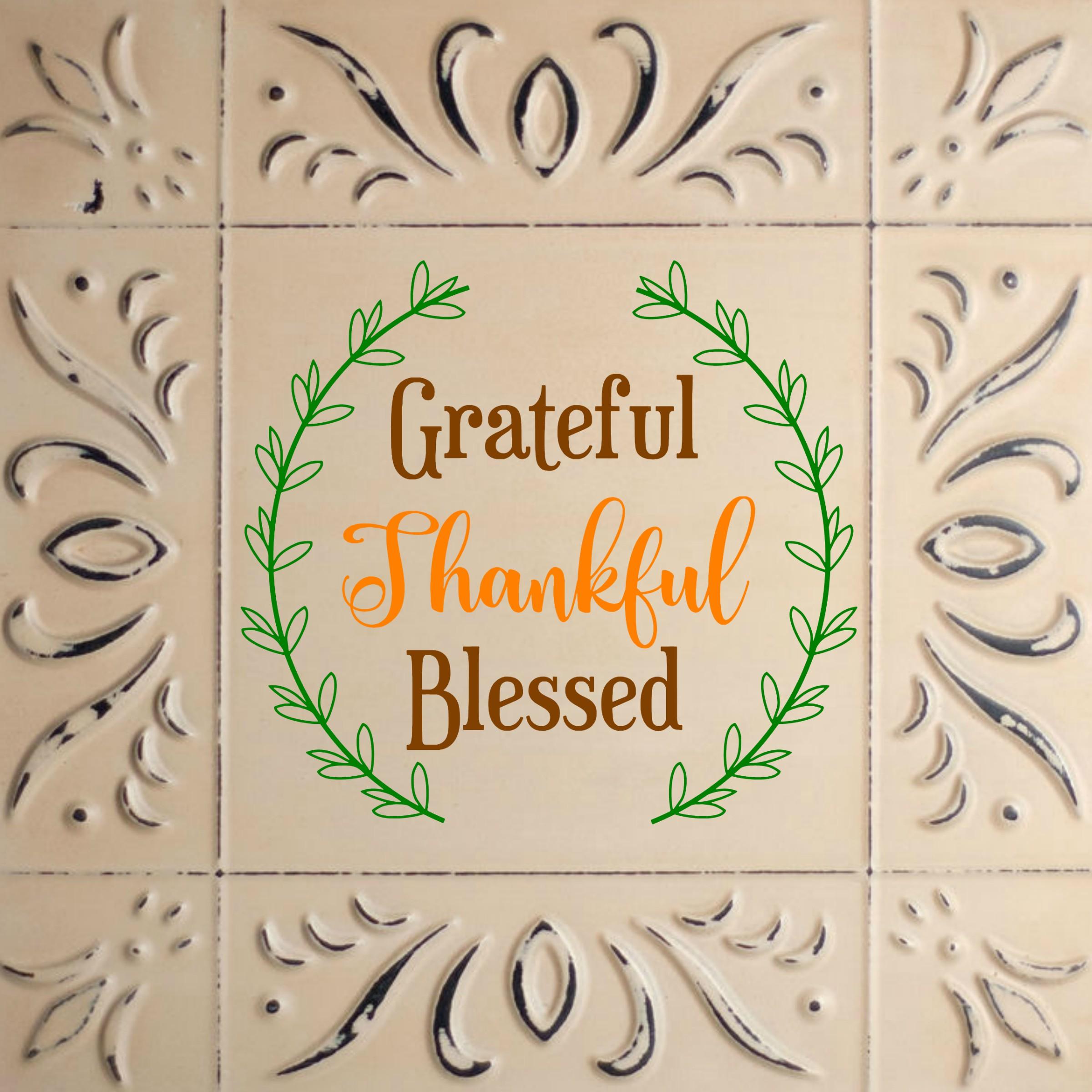 Grateful, Thankful, Blessed Printable with BONUS SVG file example image 4