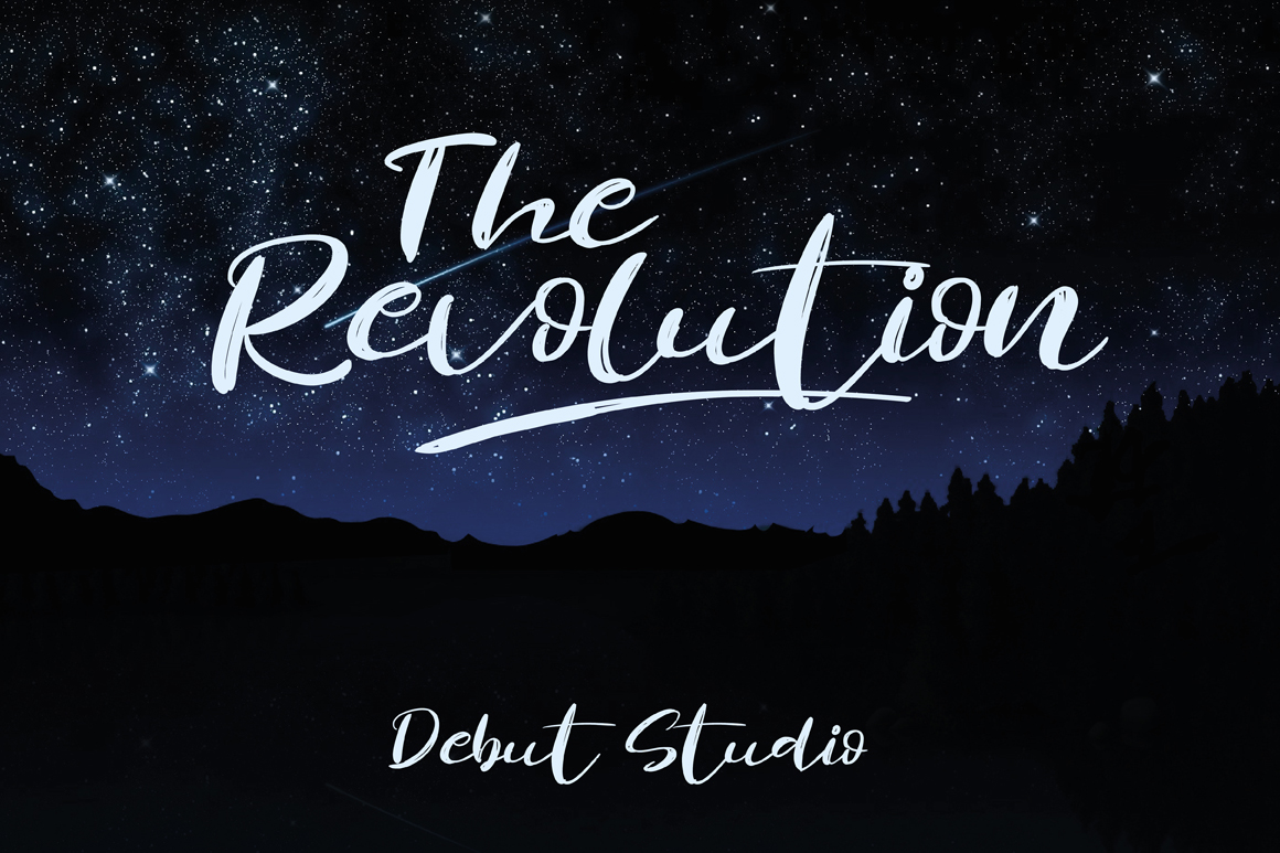 The Revolution Brush Font example image 2
