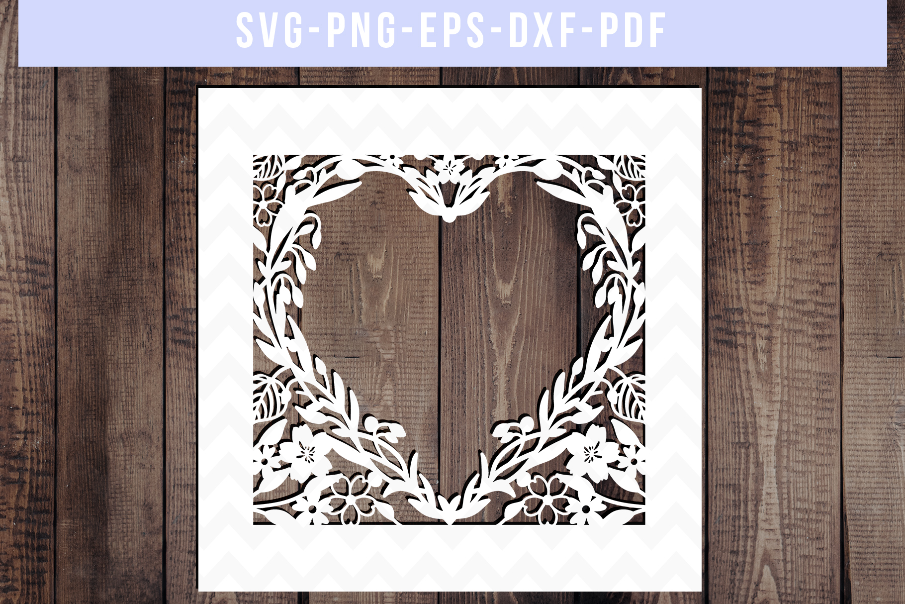 Bundle Of 9 Floral Wedding Papercut Templates, SVG, DXF. PDF example image 4