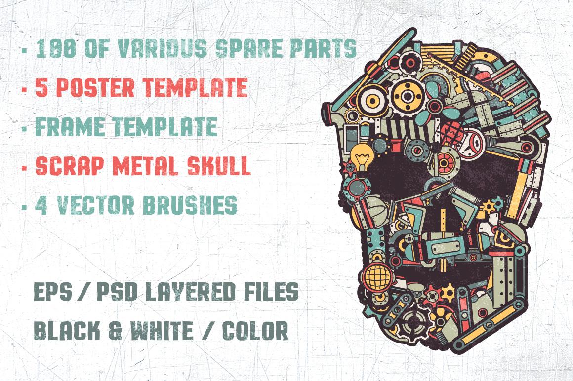 Steampunk machine parts bundle example image 7