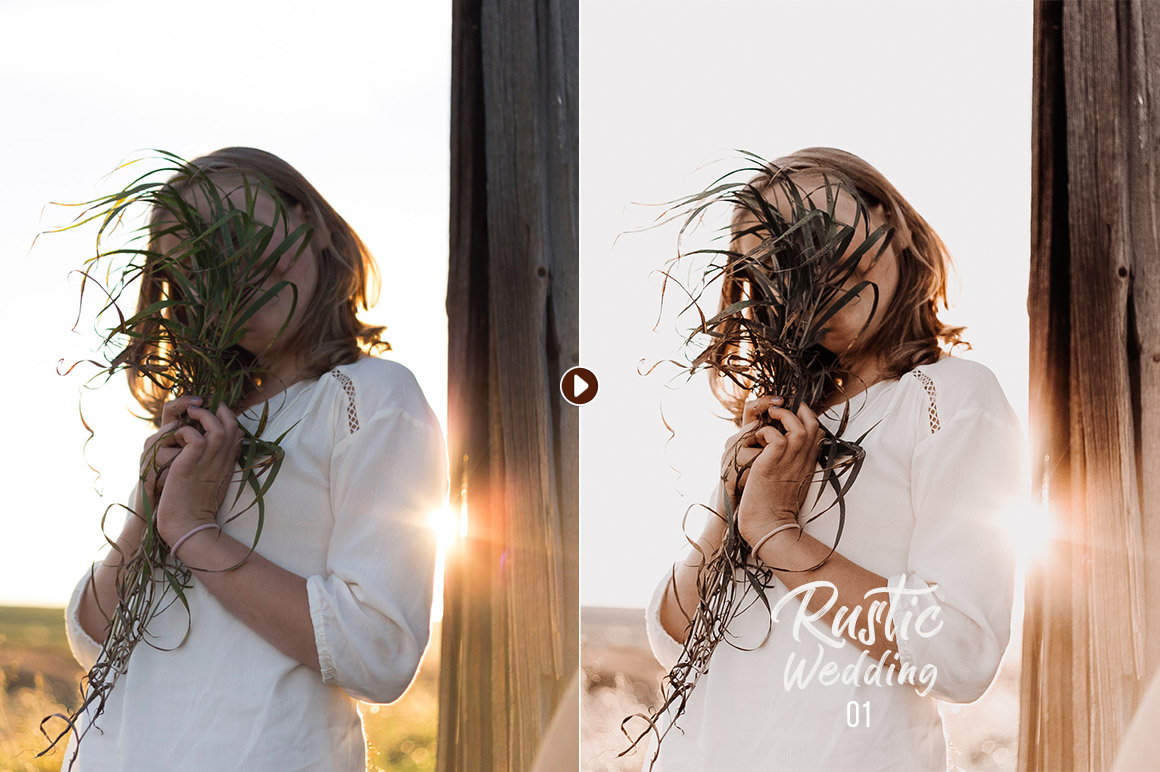 50 Rustic Wedding Presets for Lightroom & ACR example image 11