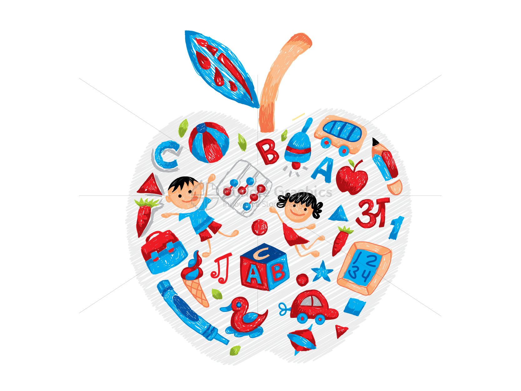 Play Pen Apple - Colorful Graphical Illustration example image 2