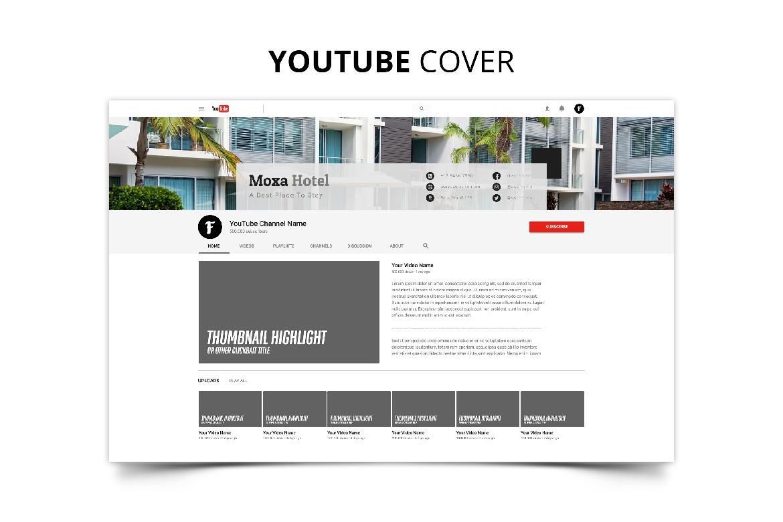 Moxa Hotel Social Media Kit example image 2