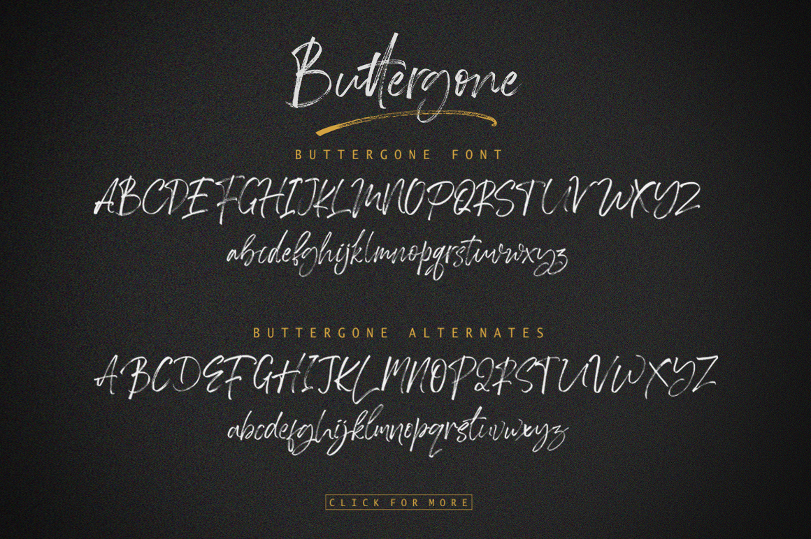 Buttergone Brush Font example image 14