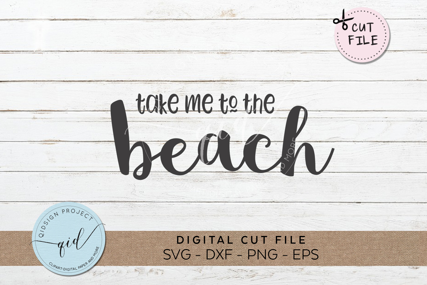 Take me to the beach SVG DXF PNG EPS example image 1