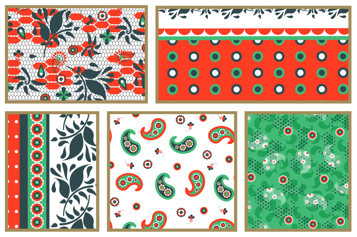 Indian Bazaar Seamless Patterns example image 9