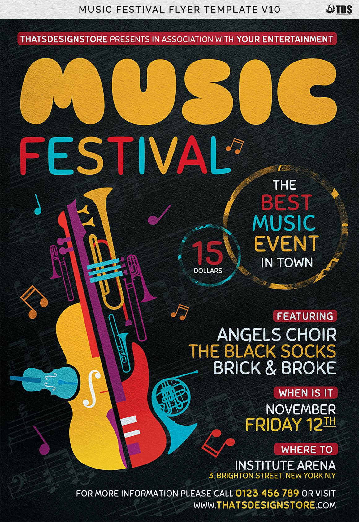 Music Festival Flyer Template V10 example image 7