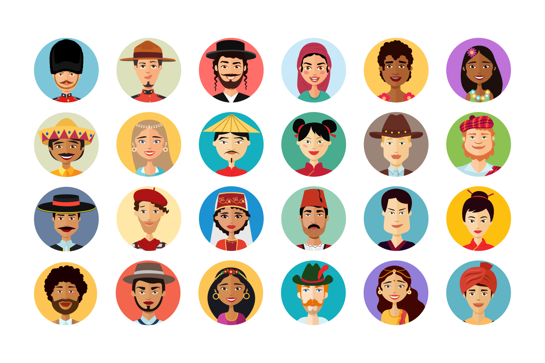 24 Multicultural national avatars example image 2