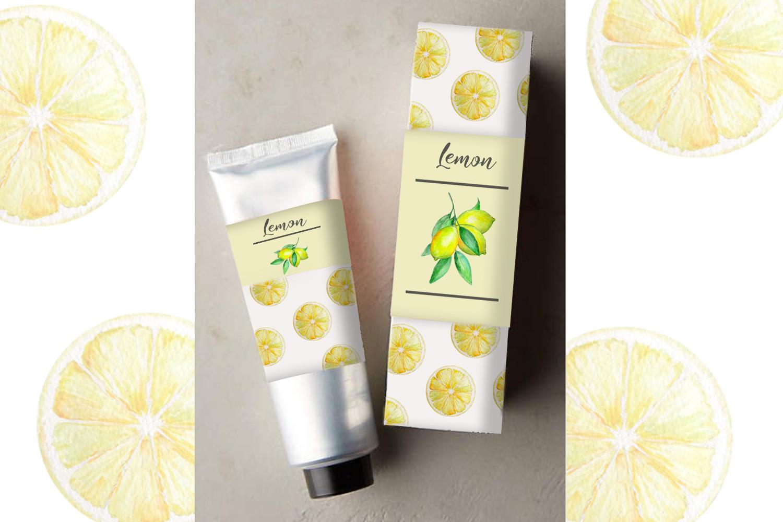 Watercolor Lemon Clipart, Tropical Fruit example image 9