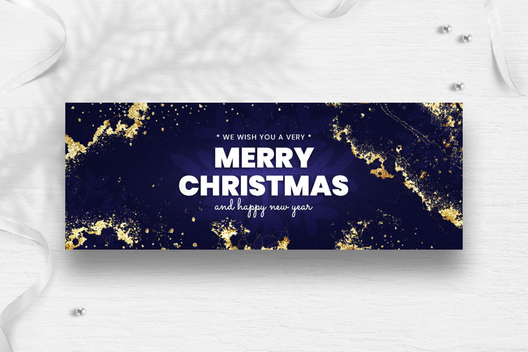 Merry Christmas Facebook Cover Template example image 2