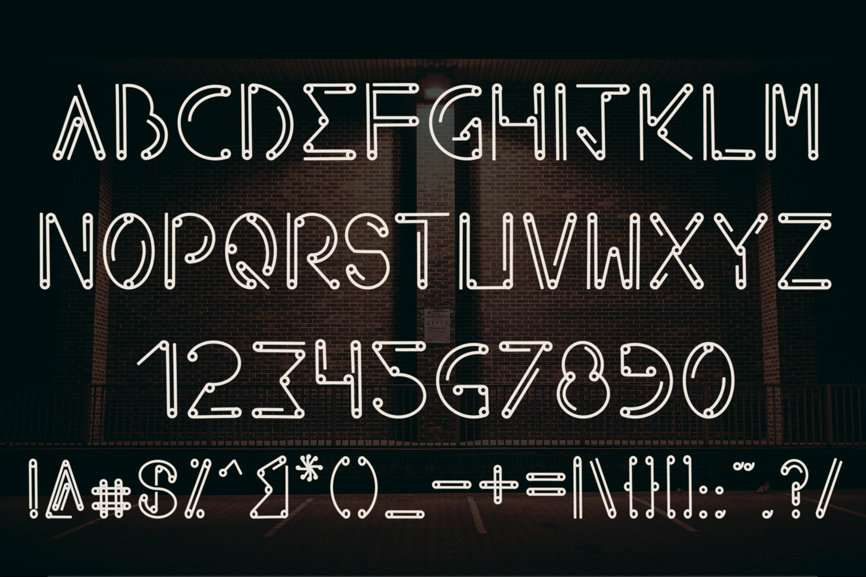 Axeon - Futuristic Typeface example image 3