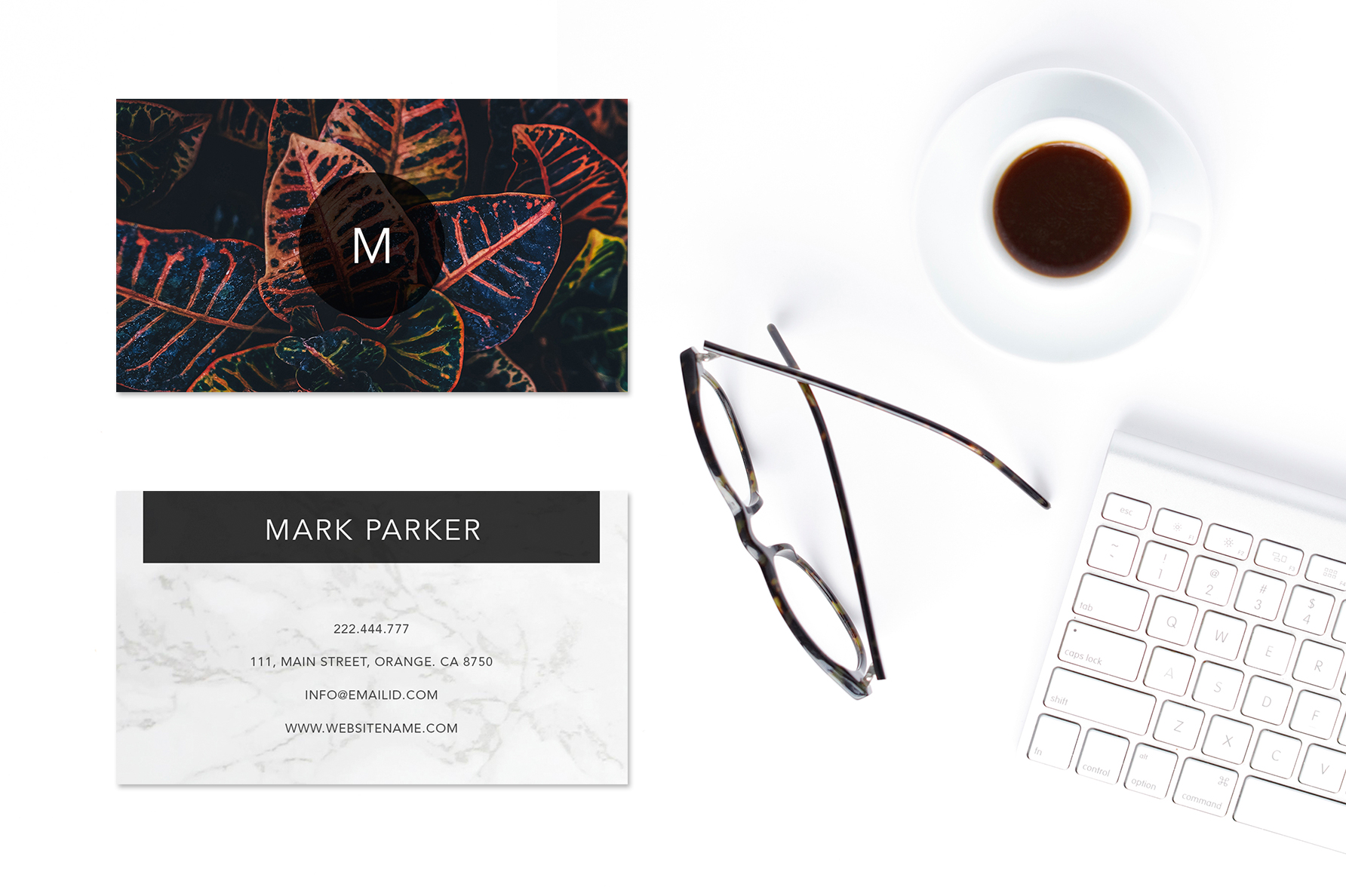 Modern Pattern Texture Beautiful Professional Art Business Card   example image 2