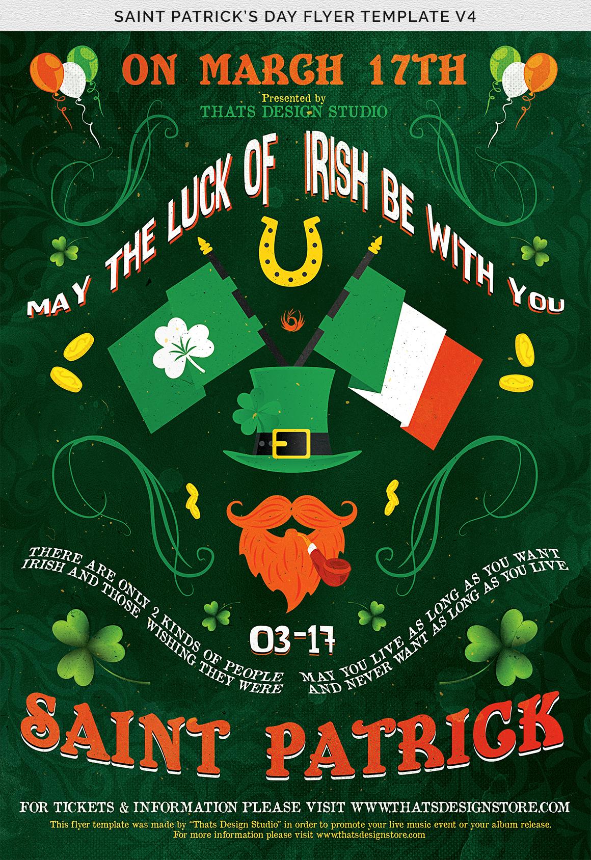 Saint Patricks Day Flyer Template V4 example image 7
