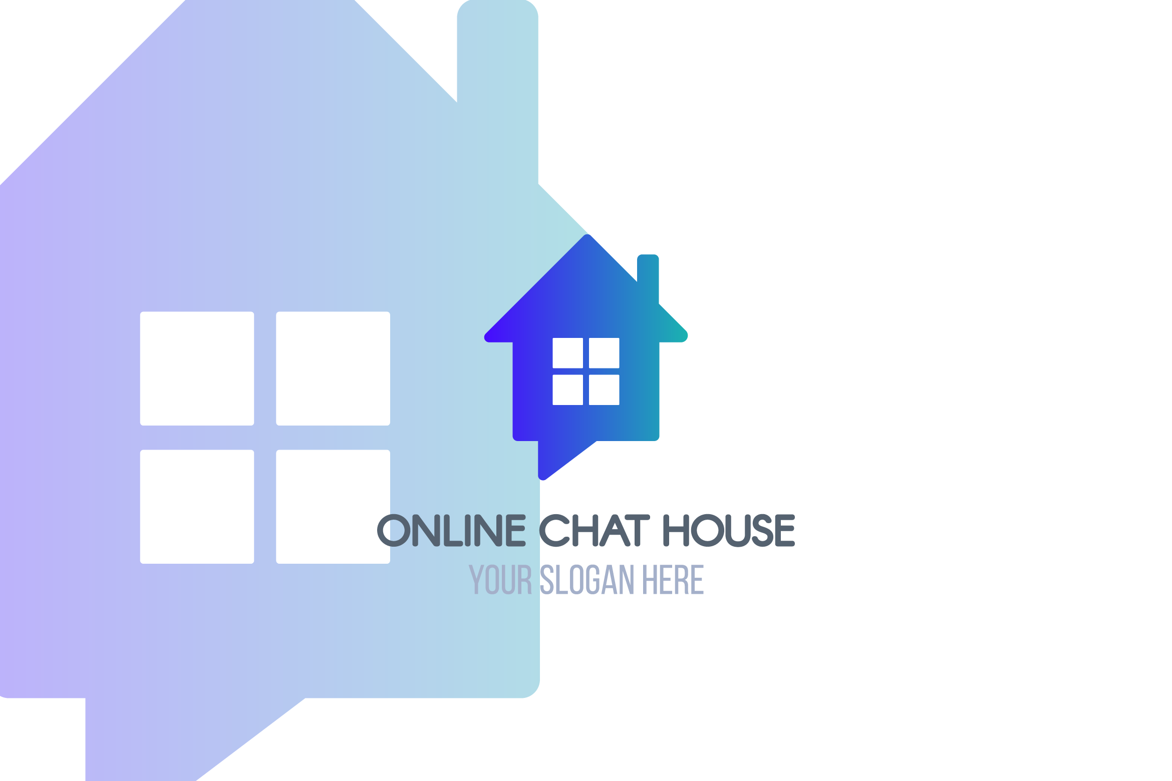 Online Chat House Logotype example image 1