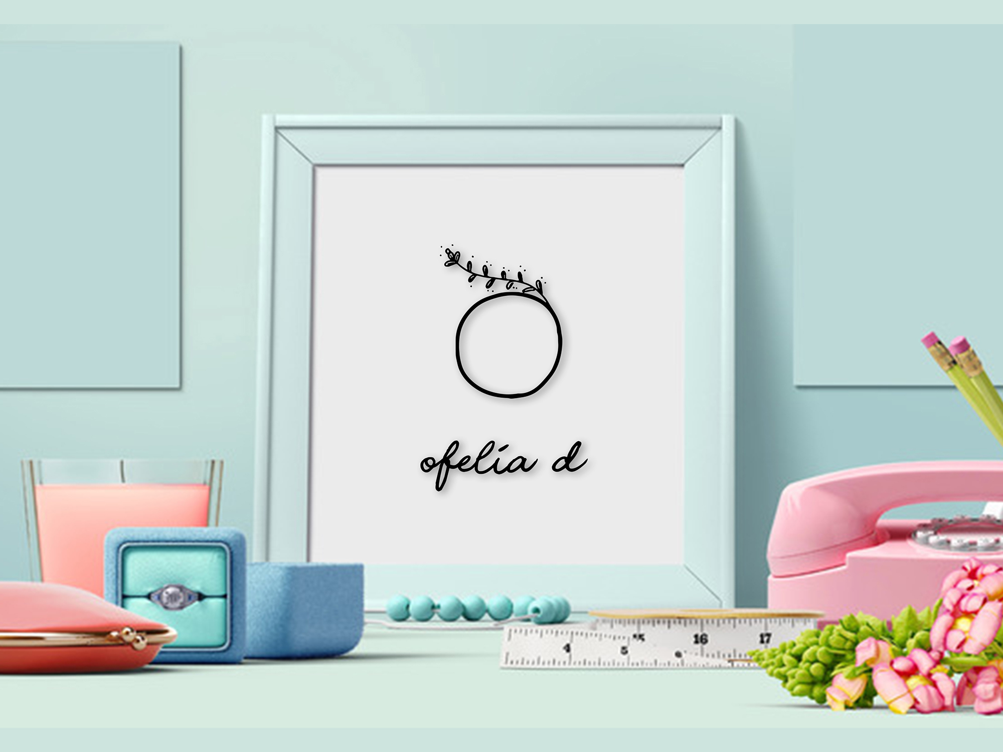 MINIMAL FLORAL LETTER AND LOGO KIT example image 10