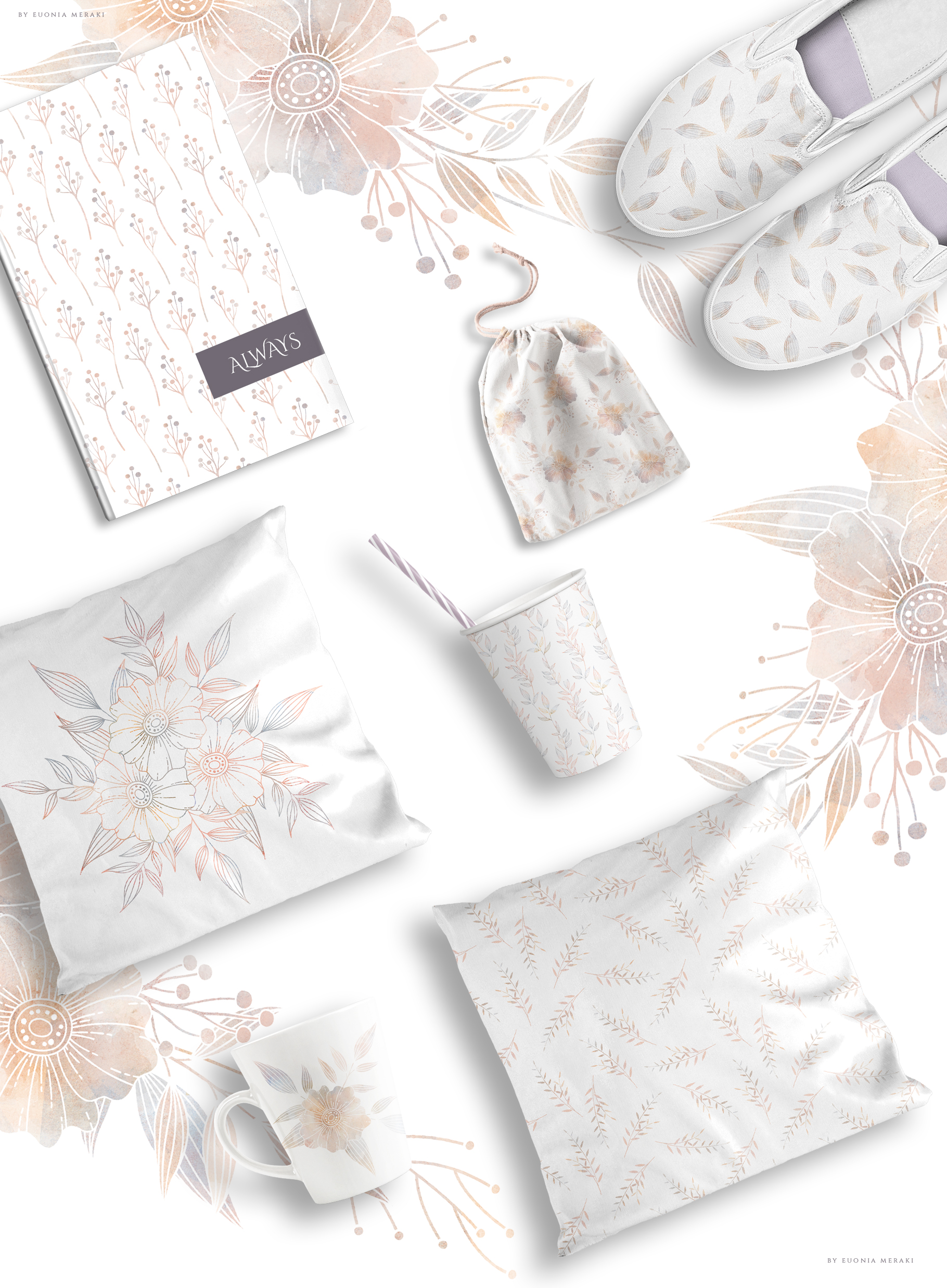 MISTY Dusty Floral Graphics and Monograms example image 14