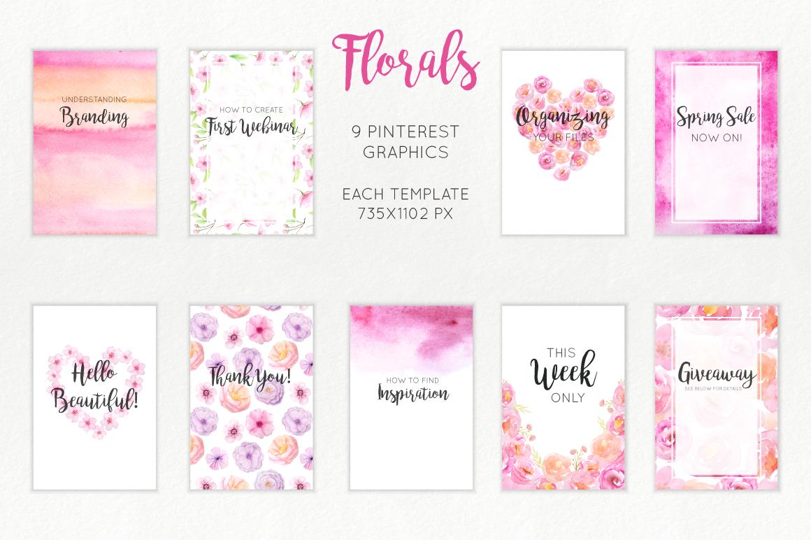 Florals Social Media Graphics example image 4
