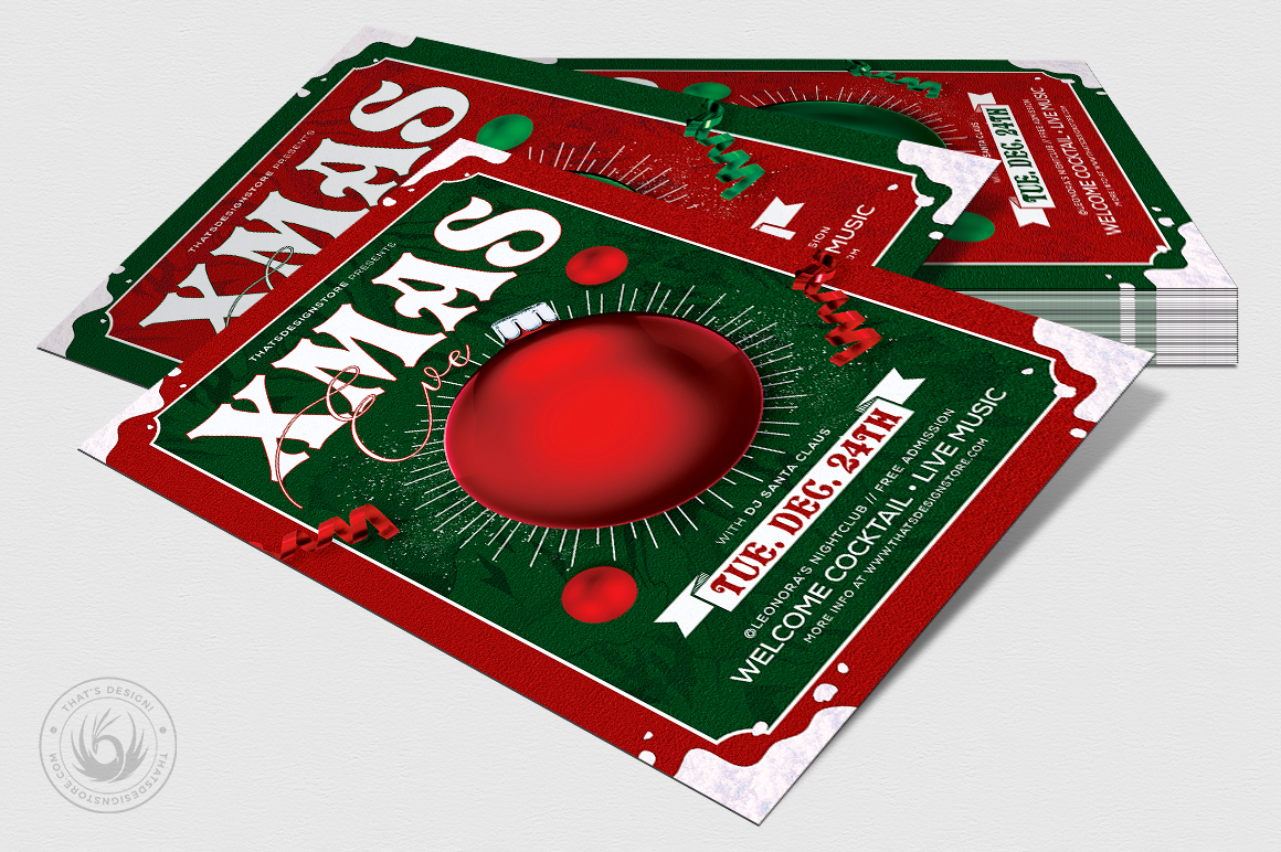 Christmas Eve Flyer Template V9 example image 4