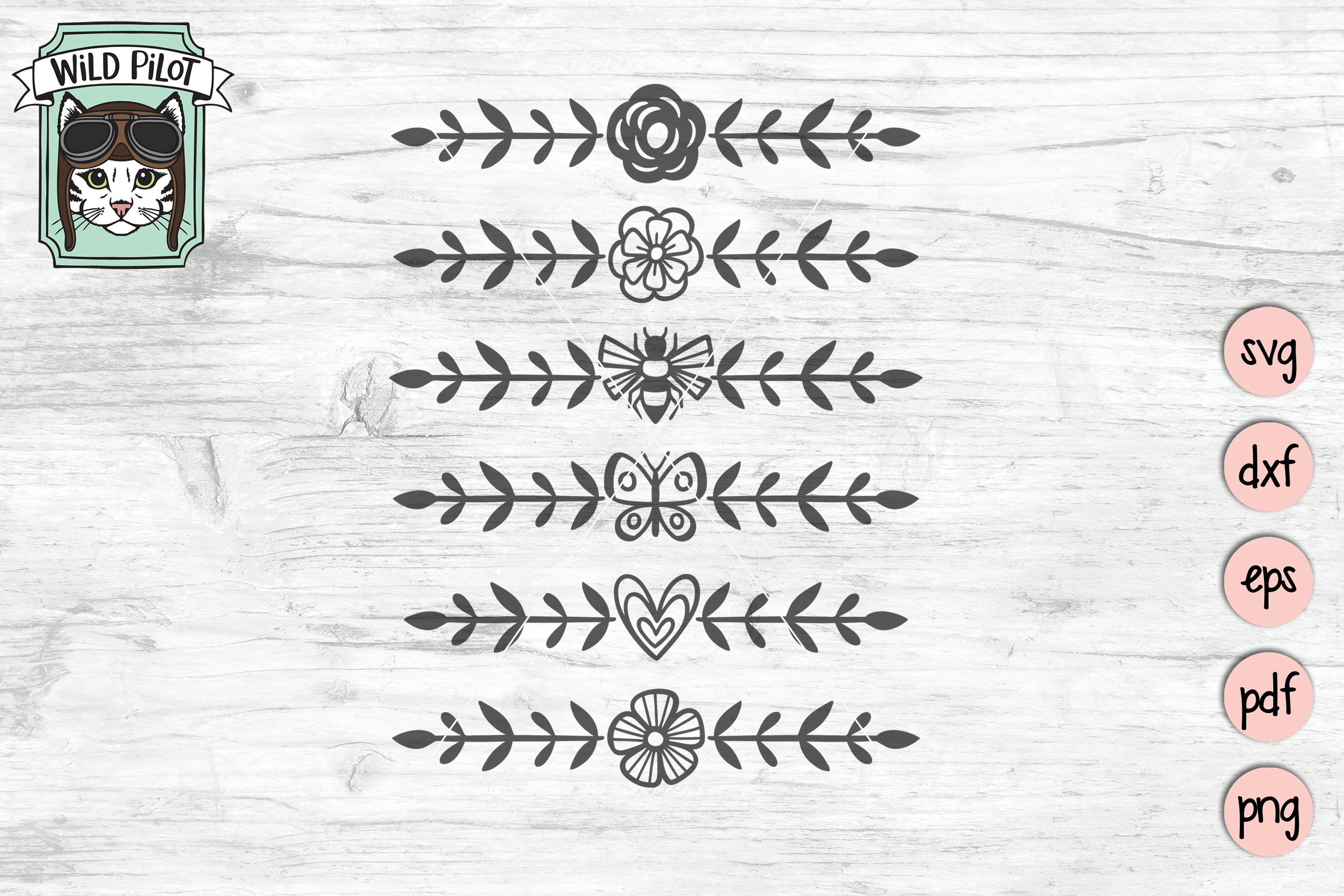 Dividers SVG files, Dividers Cut file, Line Break, Text example image 2