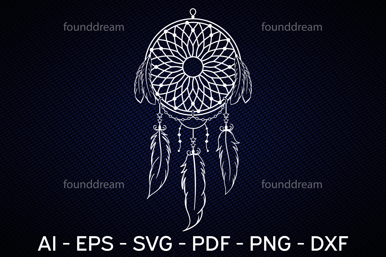 Dream Catcher Art | SVG, vector files example image 1