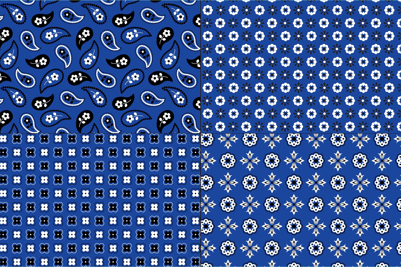 Blue Bandana Patterns example image 2