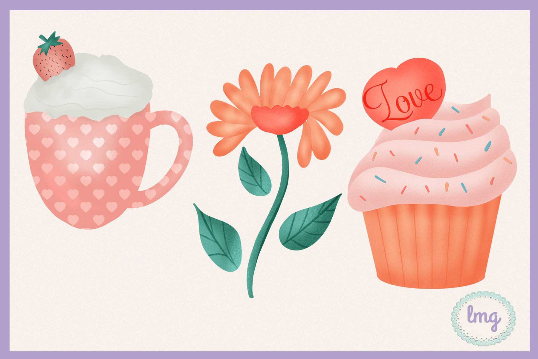 Valentine Love Clipart Sublimation example image 3