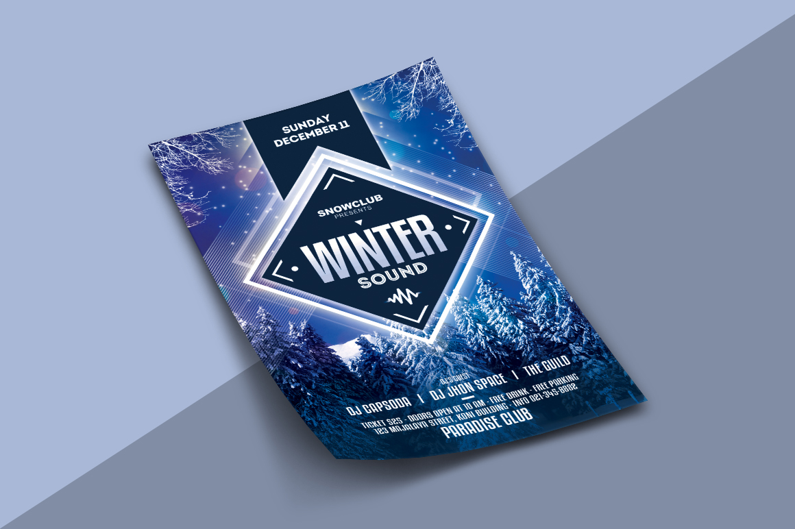 Winter Sound Flyer example image 2