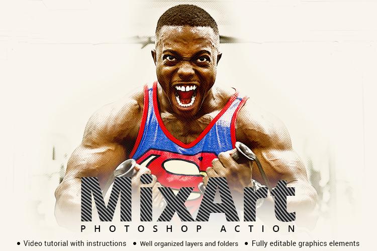 Mix Art Photoshop Action example image 1